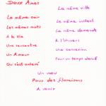 « Un Amour en Etoile filante »
